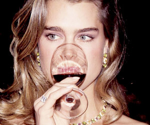 brooke shields, wine, and 80s image