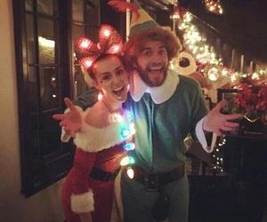 christmas, couple, and miley cyrus image