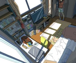 anime, room, and art image