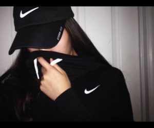 nike and girl image