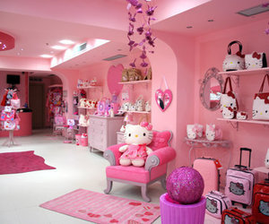 hello kitty, pink, and bling image