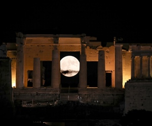 Athens, moon, and photography image
