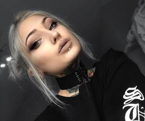alternative, goth, and makeup image