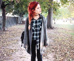 grunge, red hair, and style image