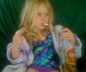 kids, girl, and smoke image