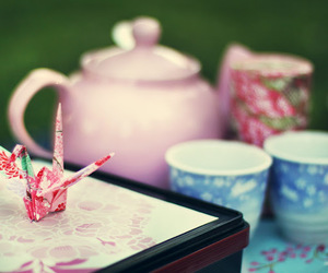 japanese, pink, and tea image