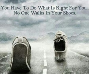 quote, shoes, and life image