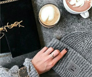 coffee, fashion, and winter image