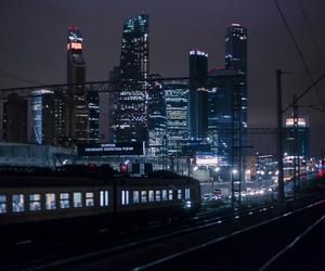 city, dark, and neon image