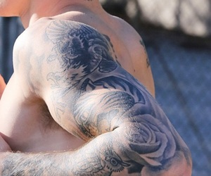 tattoo and justin bieber image