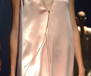 dress, gold, and pink gold image