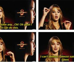 Jennifer Lawrence, funny, and quote image