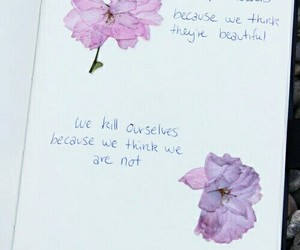 diary, text, and flowers image