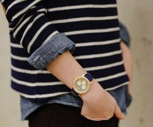 fashion, watch, and stripes image