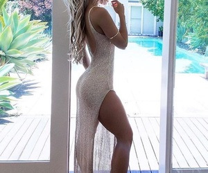 blond, dress, and fitness image
