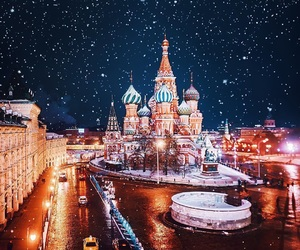 kremlin, winter, and moscow image