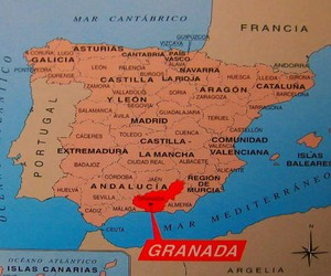 geography, Granada, and map image