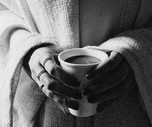 black and white, coffee, and classy image