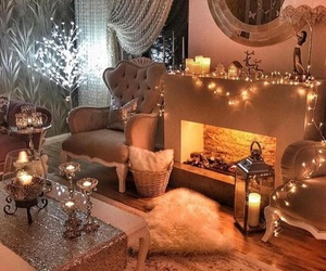 light, cozy, and christmas image