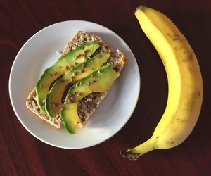 avocado, banana, and fashion image