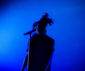 the weeknd, blue, and xo image