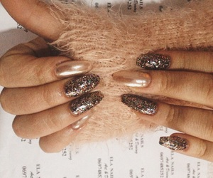grunge, nails, and sparkly image