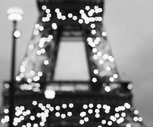 eiffel tower, lights, and paris image