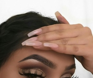 makeup, nails, and beauty image