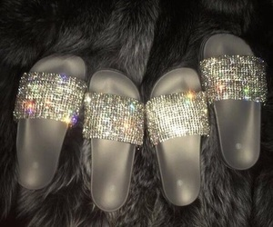 shoes, glitter, and diamond image