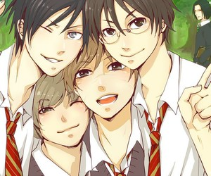 harry potter, james potter, and anime image