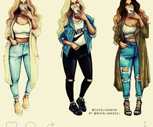 outfit hair girl image