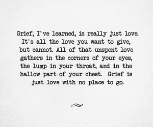 grief and love image