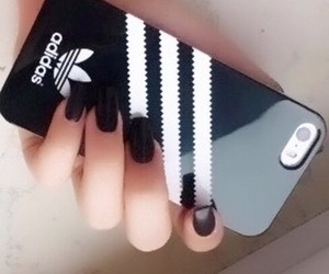 black nails and adidas phone case image