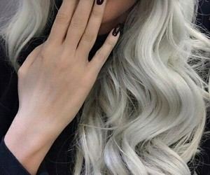 blonde, grey, and hairstyle image