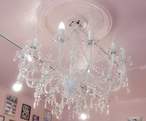 chandelier, decoration, and home image