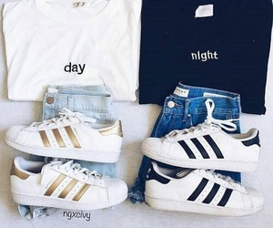 adidas, outfit, and day image
