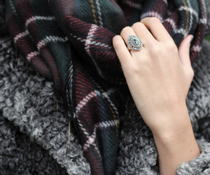 fashion, scarf, and ring image