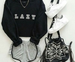 outfit, fashion, and Lazy image