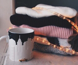 sweater, winter, and light image