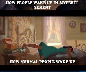 disney, funny, and wake up image