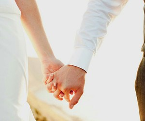 couple, holding hands, and romance image