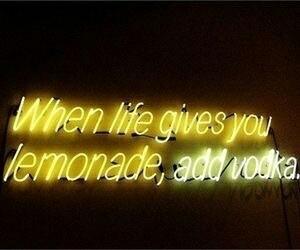 vodka, quotes, and lemonade image