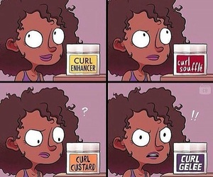 curls, curly hair, and funny image