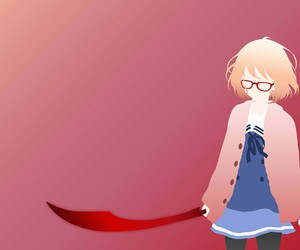 kyoukai no kanata, mirai, and minimalist anime image