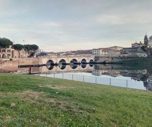 italy, rimini, and ponte image