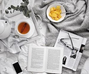 bed, fruit, and morning image