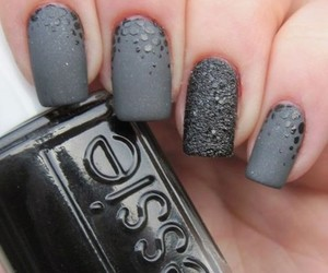 grey, nails, and essie image