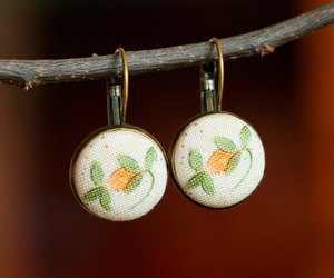 etsy, flower earrings, and romantic jewelry image