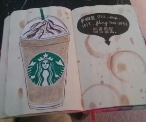coffee, starbucks, and wreck this journal image