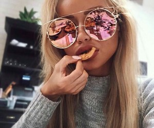 blonde and sunglasses image